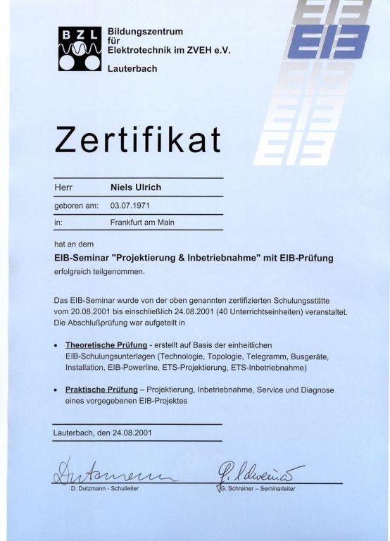 EIB-Zertitifikat