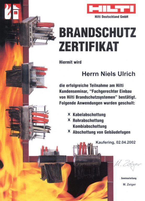 HILTI Brandschotts